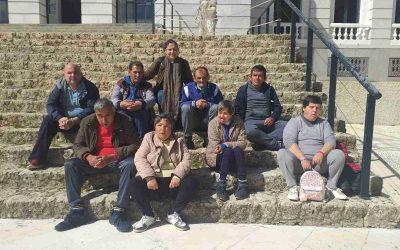 Excursión de la Residencia de Adultos 'El Cristo Roto' al paraje natural de 'La Rocina', en el entorno de la aldea de El Rocío