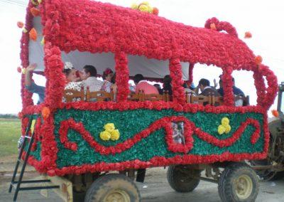 Preparación para las fiestas de San Isidro en Gibraleón